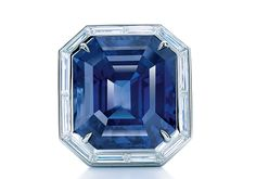 Tiffany Co. - 2014 Blue Book Collection - Ring in platinum with an esteemed, emerald-cut sapphire and diamonds Emerald Cut Sapphire Ring, Star Sapphire Ring, Sapphire Jewelry, Blue Sapphire, Emerald Rings, Platinum Ring, Tiffany Jewelry, Tiffany And Co, Tiffany Blue