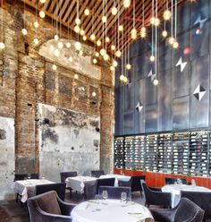 NZ restaurant design- cool lighting