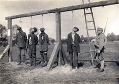World War One Austro-Hungarian troops executing Serbian peasants