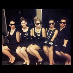Party theme: Audrey Hepburn....cute idea for a Breakfast at Tiffany's girls night party!