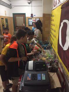 School Store opened up today at Roosevelt.  Thank you OUE PTA for volunteering your time to run the store!