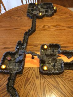 Savage Worlds Ripper campaign with DwarvenForge tiles Rpg Board Games, Savage Worlds, Tiles, Campaign, Map, My Favorite Things, Accessories, Room Tiles, Tile