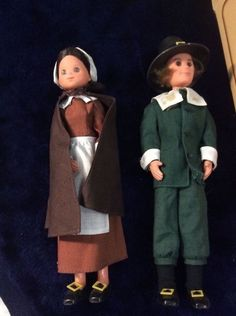 1974 Mattel Star Spangled Dolls THANKSGIVING PILGRIMS, Sunshine Family #7943 #Mattel #Dolls
