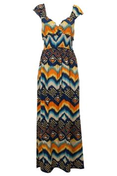 Sunny Girl Aztec Maxi Dress - Womens Maxi Dresses - Birdsnest Fashion Clothing