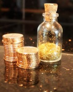 Most fairies leave a trail of glittery fairy dust, and how about leaving a special gold coin instead of a dollar bill?