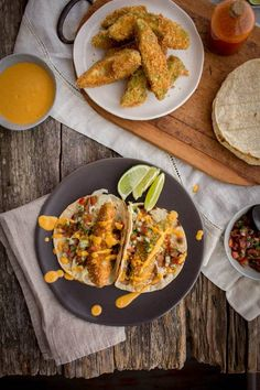 Crispy Avocado Tacos With Roasted Red Pepper Crema