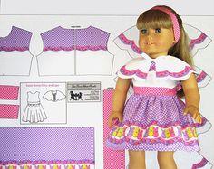 18 Doll Clothes Scotties Holiday Christmas von TeaTimeFabricPanels