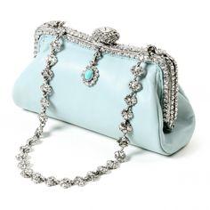 ♥•✿•♥•✿ڿڰۣ•♥•✿•♥  Alexis Clutch in baby blue leather by Clara Kasavina  ♥•✿•♥•✿ڿڰۣ•♥•✿•♥