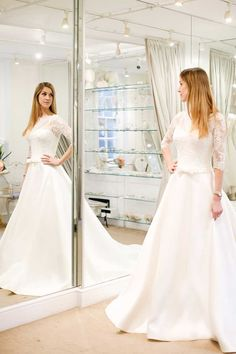 I asked my fiancé, mum and bridesmaid to choose their dream wedding dress for meghkuk London Blog, Dream Wedding Dresses, Wedding Bridesmaids, Dream Dress, Fashion Beauty, Mom, Mirror Mirror, Formal Dresses, How To Wear