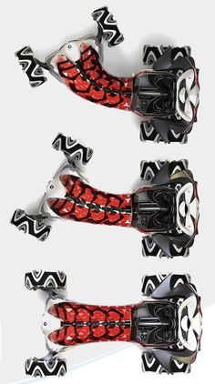 Snake Futuristic Vehicle by Liwen He. inspired by the flexibility of snake's bone that allows it to move smoothly through narrow tunnels.
