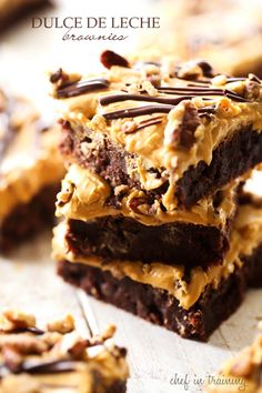 Dulce de Leche Brownies... these brownies are so fudgy and delicious!