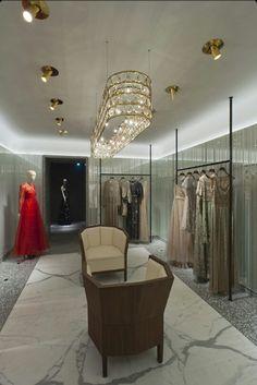 Valentino!  Elegant store design!