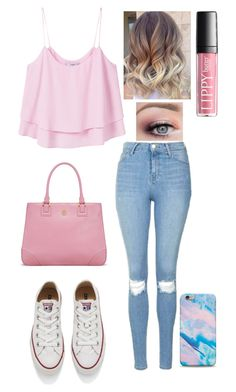 """Untitled #123"" by allygleavy12 on Polyvore featuring MANGO, Topshop, Converse and Tory Burch"