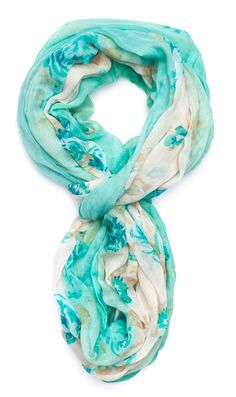 Mint Floral Infinity Scarf I want to start wearing scarves!! Cute