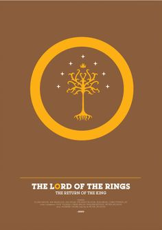 The Lord of the Rings: The Return of the King (2003) ~ Minimal Movie Poster by David O'Mara #amusementphile