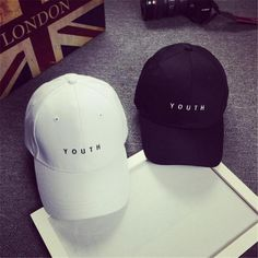 ac0b13474af Feitong Fashion Cap Women Men Summer Cotton Caps Women Letter Solid Adult baseball  Cap Black White