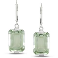 Miadora Sterling Silver Green Amethyst Leverback Earrings ($75) ❤ liked on Polyvore featuring jewelry, earrings, green, green amethyst earrings, green amethyst jewelry, earring jewelry, sparkle jewelry and sterling silver jewelry