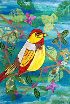 MaryMaking: Spring Bird Collages