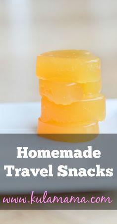 homemade travel snacks, kid