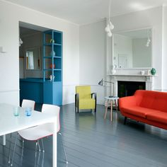 Vibrant Colour Vignettes Vamp Up Georgian Apartment