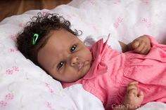 African American Reborn Baby Dolls | Winnie prototype #5 reborned by Kate Charles of Cutie Pie Productions: