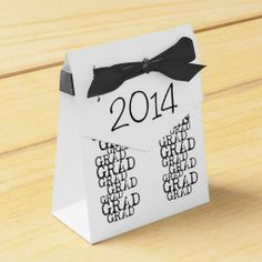 Grad Pattern Small Favor Boxes - for the Graduates of 2014 and Graduation Parties.  Ribbon included, Bulk pricing also, at Zazzle