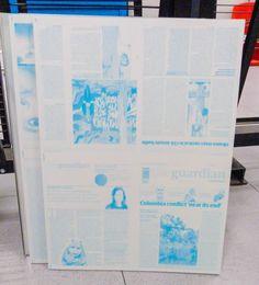 singel solid block of cyan printed before printing other colours in CMYK print job
