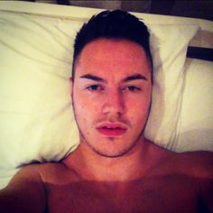 Bed selfie. #bed #time #boy #late #short #back #and #sides #quiff #hair #pillow…