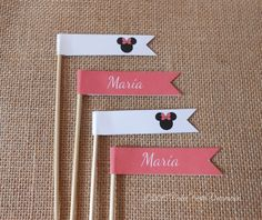 Kit de decoración personalizada Minnie y Mickey Mouse