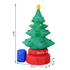 7FT Animated Rotating Inflatable Christmas Tree Lighted Xmas Yard Decorations *** Click photo for even more details. (This is an affiliate link).