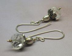 A Winter Ice Storm X Swarovski Crystal Earrings | JewelryByLis - Jewelry on ArtFire