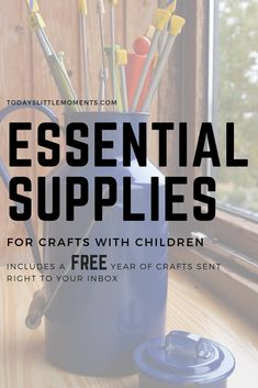 10 Essential Supplies for Crafting with Littles - Todays Little Moments Activities For 1 Year Olds, Art Activities For Toddlers, Infant Activities, Family Activities, Crafts To Do, Crafts For Kids, Easy Crafts, Budget Crafts, Creative Play