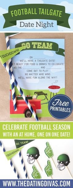 A fun football themed date night idea - tailgating is my favorite part of football season! www.TheDatingDivas.com