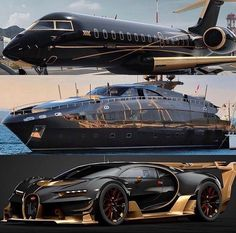 Bugatti Chiron : The most powerful, fastest, most luxurious and exclusive car in the world Lamborghini Terzo Millennio : THE SPORTS CAR . Luxury Yachts, Luxury Cars, Jets Privés De Luxe, Supercars, Avion Jet, Jet Privé, Poseidon, Luxury Private Jets, Private Plane