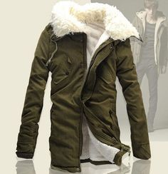 NEW Winter Mens Military Trench Coat Fur Hooded Parka Thick Cotton long Jacket #other #BasicCoat