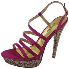 Nine West Women's Armcandy Platform Sandal,Pink Satin,5.5 M US