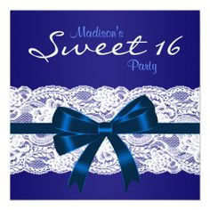 Royal Navy Blue White Lace Blue Sweet 16 Party Personalized Invites online after you search a lot for where to buyThis Deals          	Royal Navy Blue White Lace Blue Sweet 16 Party Personalized Invites lowest price Fast Shipping and save your money Now!!...