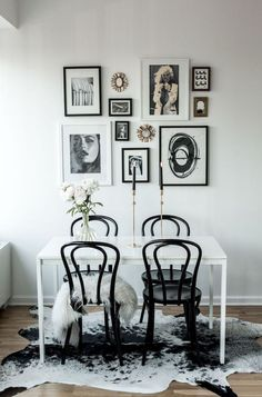 Black and white dining room inspiration Dining Room Inspiration, Home Decor Inspiration, Decor Ideas, Inspiration Boards, Room Ideas, Home Interior, Interior Design, Apartment Interior, Luxury Interior