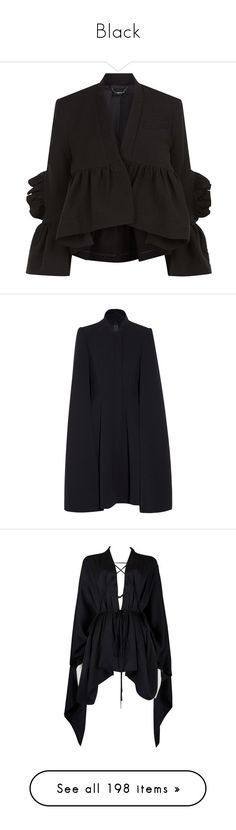 """Black"" by selinmavi ❤ liked on Polyvore featuring dresses, black dress, outerwear, jackets, tops, shirts, coats, peplum jacket, fleece-lined jackets and rachel comey jacket"