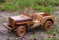 Wood Toys Plans Designs Plans For Wood Jeep Toy From