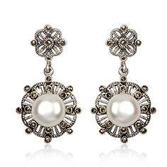 Joyeria Plata y Azabache Artesania Galicia Home Page Silver and Black Jet Crafts Jewelry Crafts Tax Free, Marcasite, Jewelry Crafts, Pearl Earrings, Pearls, Sterling Silver, Retro, Bags, Collection