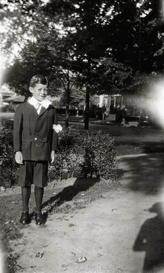 Jack on the occasion of his First Communion, Brookline, Mass., June, 1925.