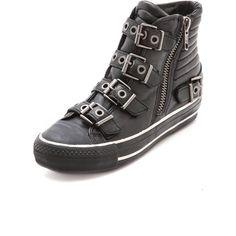 Ash Vangelis High Top Sneakers - Black ($225) found on Polyvore