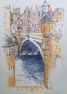 Lendal Bridge, York - Sketch ~ John Edwards