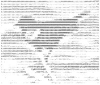 ASCII Art-- is a graphic design technique that uses computers for presentation and consists of pictures pieced together from the 95 printable (from a total of 128) characters defined by the ASCII Standard from 1963 and ASCII compliant character sets with proprietary extended characters (beyond the 128 characters of standard 7-bit ASCII). The term is also loosely used to refer to text based visual art in general. ASCII art can be created with any text editor, and is often used with free-form