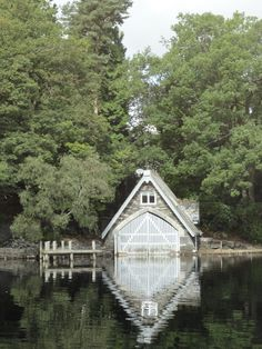 Boat House, Coniston Water. England