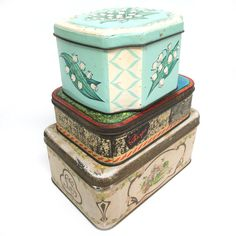 Decorated Tin Boxes Set Of 3 by A Virgo's View