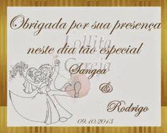 Lollita Cereja: Tags Personalizadas - Casamento
