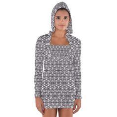 NUMERILOGICAL++Women's+Long+Sleeve+Hooded+T-shirt