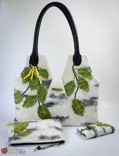 """Купить Сумка """"Березовые сны..."""" - сумка, сумка женская, сумка из войлока, сумка валяная"""